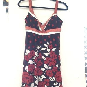 Dress with satin straps worn once.